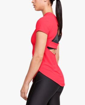 Women's UA Breathelux Stretch Open Back Short Sleeve